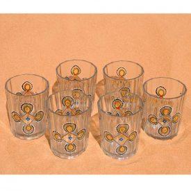 Set 6 Tea glasses hand painted Mauritania - Drawing Complex