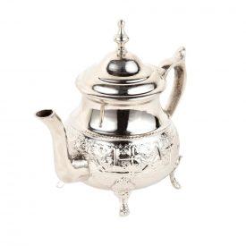 Moroccan Engraved Alpaca Teapot - Maghreb Model