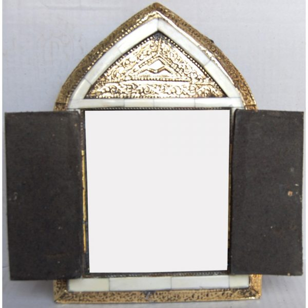 Mirror Arab Bone Brass - 3 sizes - Orange - White
