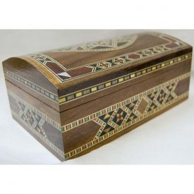 Trunk Rectángular Box Dark - Sirya Marquetry - Velvet