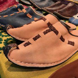 Aladdin Leather Slippers - Braided Decoration - Handmade