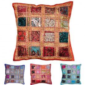 Cushion-40cm Bright Paths Various Colors- Cotton - NEW