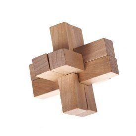 Wooden Cross Puzzle - Skill Games - Puzzle - 8 x 8 cm