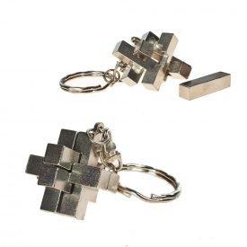 Ingenio Keychain Cross - Split the pieces