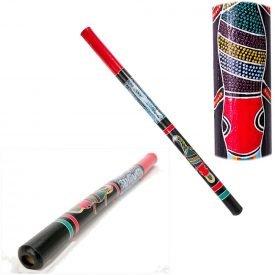 Wood Didgeridoo - ethnic - Hand Painted - 1m