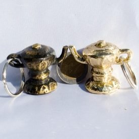 Teapot Keyrings Arabic of luck - Brass or Niquel NEW