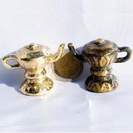 Mini Teapot Arabic - Cast Bronze or Nickel - Very nice - 4cm