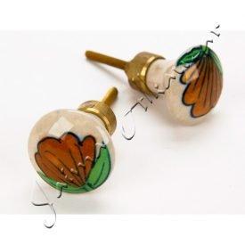 Flower Design Knob - 6 cm - screw hook - very elegant