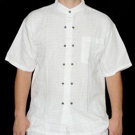 White Cotton Shirt - Buttons - Various Sizes