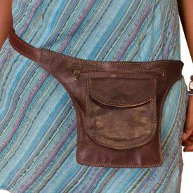 Leather Fanny Bag - Several pockets - Artisan