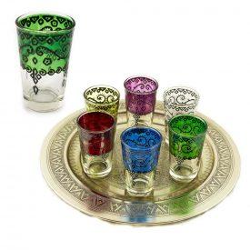 Tea Glasses Game 6 Prints - Floral Design Craftsman - Colors