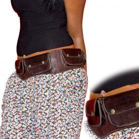 Leather Fanny Bag - Varos pockets - Artisan