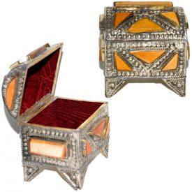 Orange Box - Lined-Alpaca and Bone-Crafted