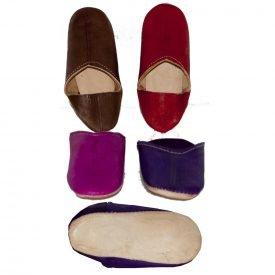 Mini leather slipper - Children - Various Colors - 18-36 N-soled