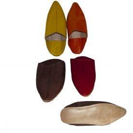 Punta leather slipper - Sole semihard - Various Colors - 38-46