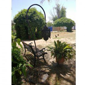 Floor Lamp Hook - Wrought Iron - Arabic Design