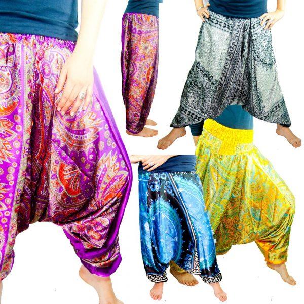 Baggy pants - Floral Pattern - Taille Unique - Silk