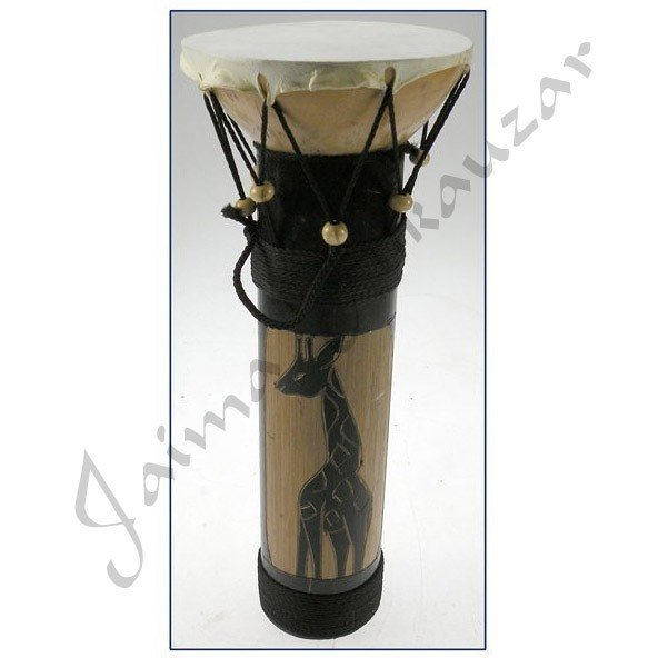 African Drum Bamboo - Ethnic Decor - 30 x 12 cm
