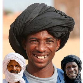 Mauritanian Turban - Cotton - 2 Color - 3 m - Arab Turban