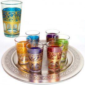 Set 6 Glasses Arab - Hand of Fatima - Multicolor - Model 4