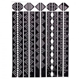 Henna Tattoo Adhesive Template - Feet & Hands - 1 Single-Use