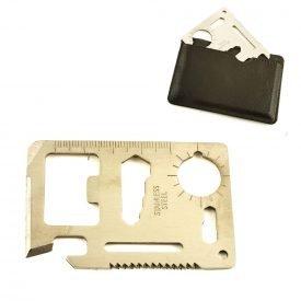 Steel Multipurpose Card - 11 Utilities - Survival - 7 cm