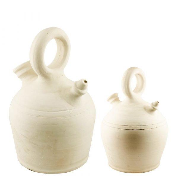 Craftsman Botijo Barro Blanco - 2 Sizes - Artisan