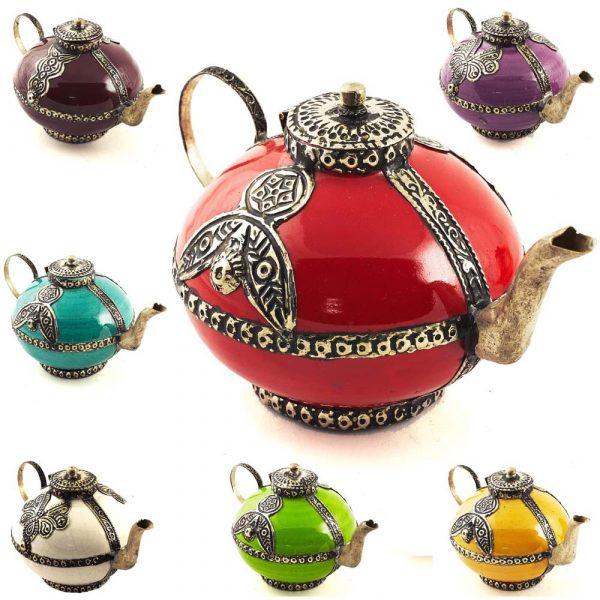 Decorative Ceramic Teapot and Alpaca - Various Colors - 15 cm