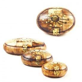 Bone Box Oval- Velvet Lined - 3 Sizes - Quality