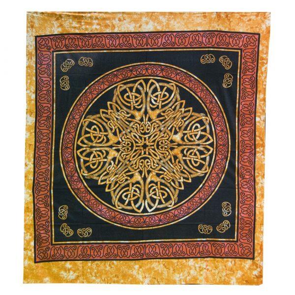 India Cotton Fabric-Geometric Cross-Artisan-210 x 240 cm