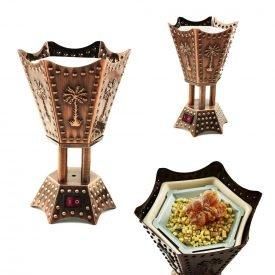 Electronic Censer - Hexagonal - Arab Design - 220 V - 15cm