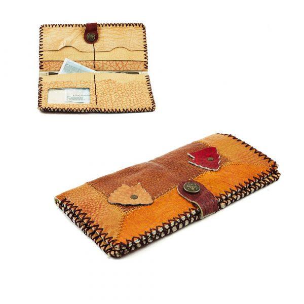 Pathwork Leather Briefcase - Artisan - High Quality - 19 x 11 cm