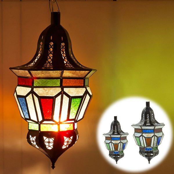 Trapeze Arab lamp - Glass Colors - 2 Sizes