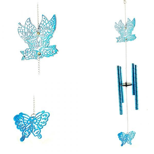 Bell Mobile Wind -Butterfly Blue - Casting - 45 cm
