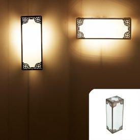 Apply Oblong Glass - Opaque White - Arab Draft - 30 cm