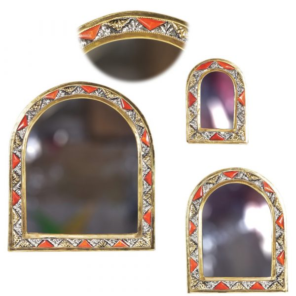 Game 3 Mirrors Arc-Alpaca Bone and Brass - Arab Design