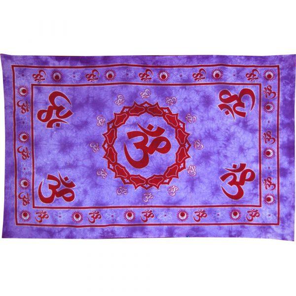 India-Cotton Red Ohm-Crafts-210 x 140 cm