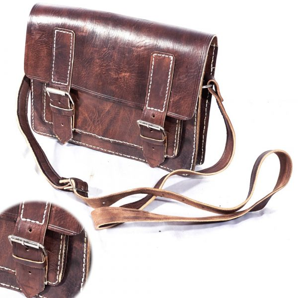 Leather Briefcase Documents - 3 Compartment - 30 cm