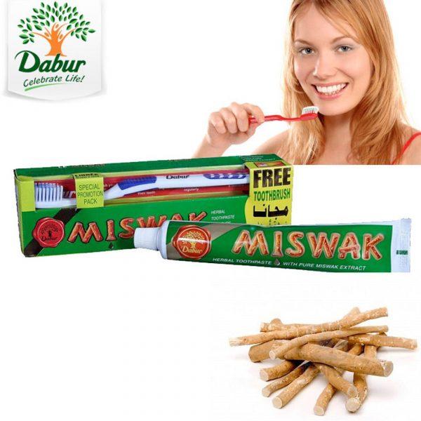 Natural Toothpaste Miswak-Salvadora Persica, Gift Brush 150 gr