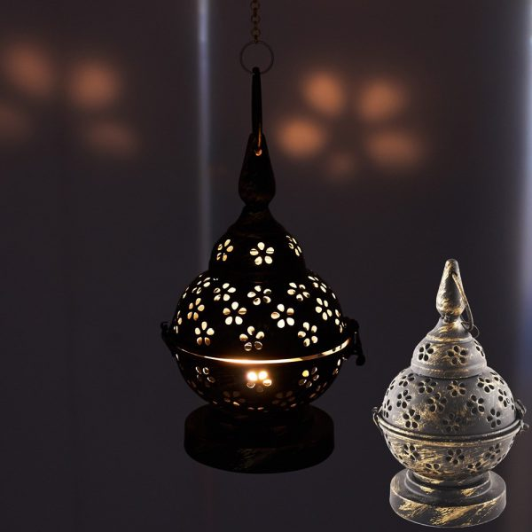 Metal Candle Holders Draft - Aged - with or without Cadeda - 20