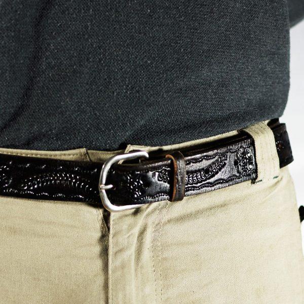 Knight Artisan Belt - Leather Engraving - 125 cm