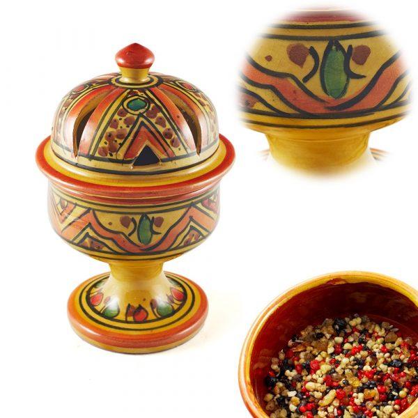 Arab Dome Censer - Glazed Ceramics - 4 Colours - 17 cm