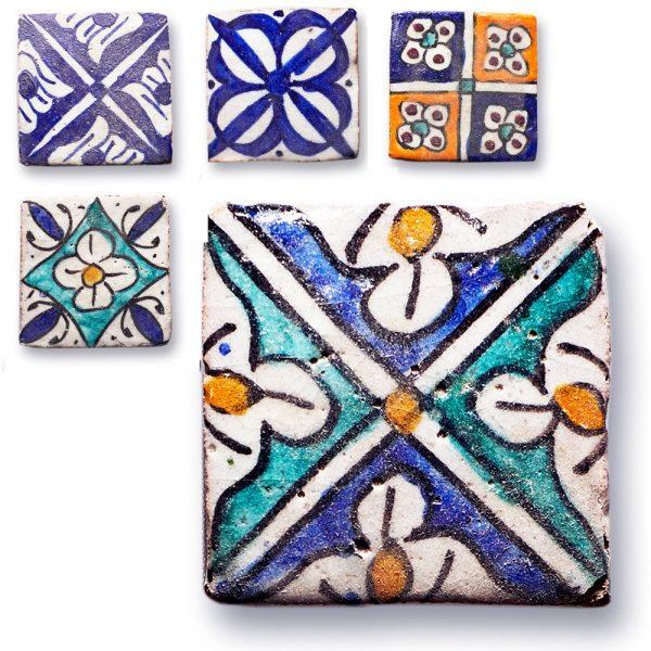 Andalusian Tile Mini - 5 cm - Various Designs - Handmade