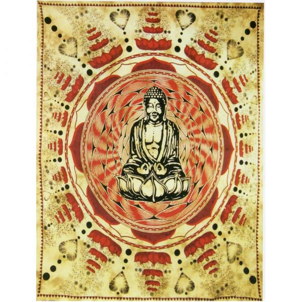 Cotton Fabric Crafts India-Buddha-240 x 210 cm
