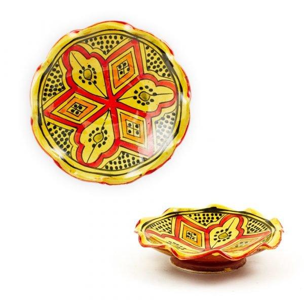 Wavy Pottery Bowl - Various Colors - Artisan - 15 cm