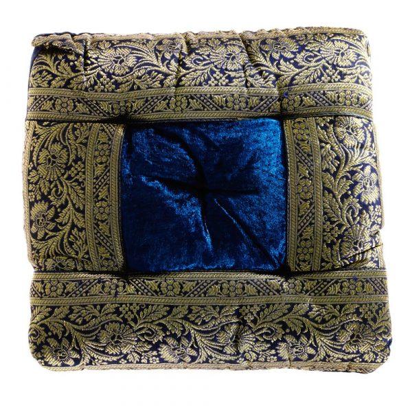 Yoga Cushion - Decorated Indian - Includes Stuffed - 27 cm