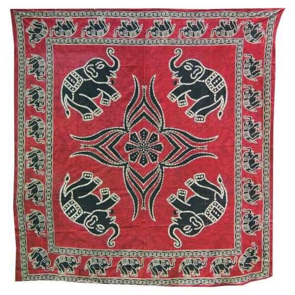 India-Cotton -Elephant Floral-Artisan-240 x 210 cm
