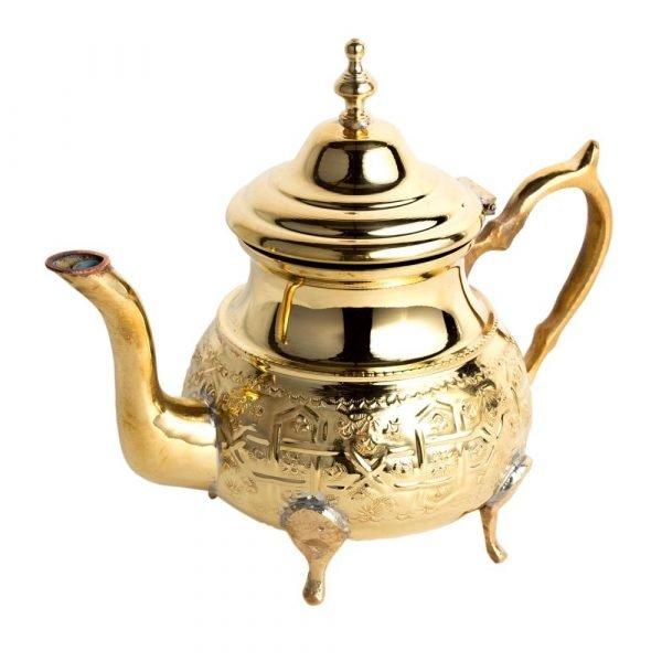 Engraved Golden Teapot - Maghreb Dahab Model