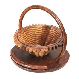 Wood Cart Folding - Heart Design - 30 cm