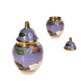 Thumbnail Bombonera Bronze - Floral Design - 7 cm